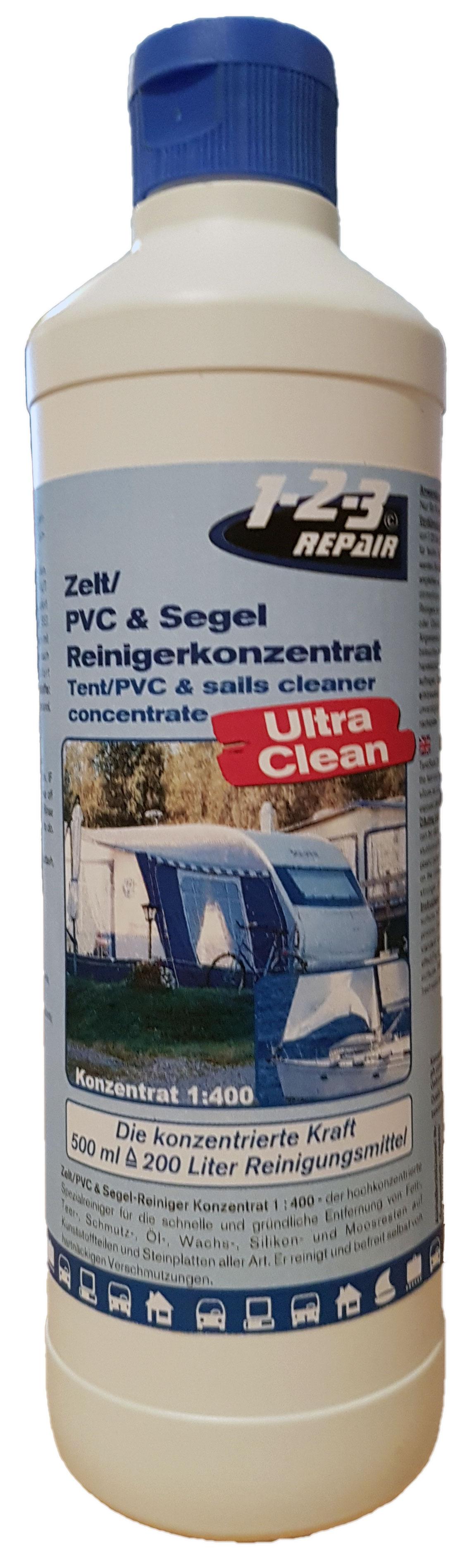 Zeltreiniger, PVC-Kunststoffreiniger und Segelreiniger von 123Repair